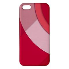 Red Material Design Iphone 5s/ Se Premium Hardshell Case