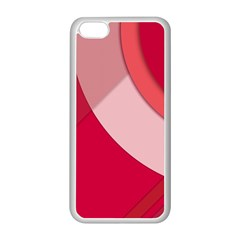 Red Material Design Apple Iphone 5c Seamless Case (white)