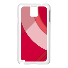 Red Material Design Samsung Galaxy Note 3 N9005 Case (white)