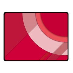 Red Material Design Double Sided Fleece Blanket (small)