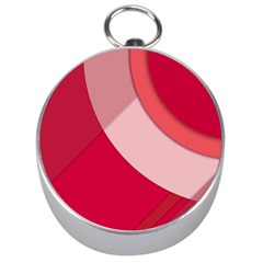 Red Material Design Silver Compasses