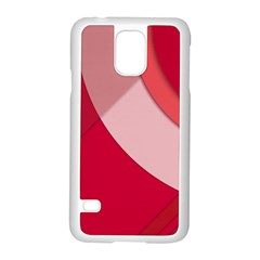 Red Material Design Samsung Galaxy S5 Case (white)