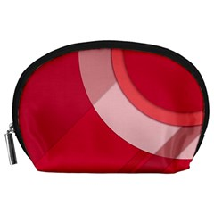 Red Material Design Accessory Pouches (large)