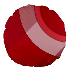 Red Material Design Large 18  Premium Flano Round Cushions