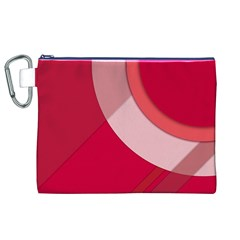 Red Material Design Canvas Cosmetic Bag (xl)