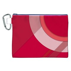 Red Material Design Canvas Cosmetic Bag (xxl)