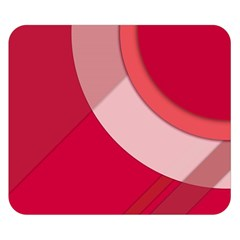 Red Material Design Double Sided Flano Blanket (small)