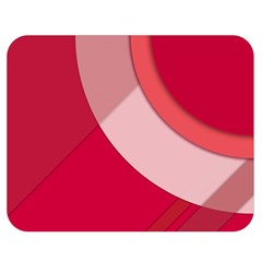 Red Material Design Double Sided Flano Blanket (medium)