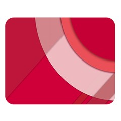 Red Material Design Double Sided Flano Blanket (large)
