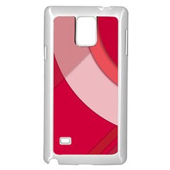Red Material Design Samsung Galaxy Note 4 Case (white)