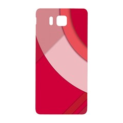 Red Material Design Samsung Galaxy Alpha Hardshell Back Case
