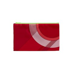 Red Material Design Cosmetic Bag (XS)