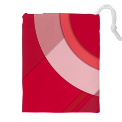 Red Material Design Drawstring Pouches (xxl)