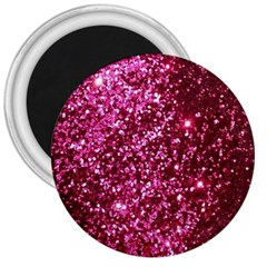 Pink Glitter 3  Magnets