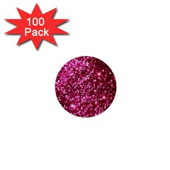 Pink Glitter 1  Mini Buttons (100 Pack)