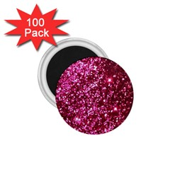 Pink Glitter 1 75  Magnets (100 Pack)