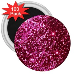 Pink Glitter 3  Magnets (100 Pack)