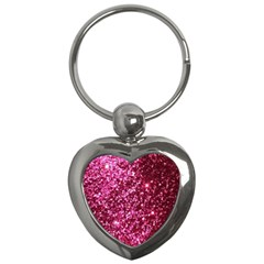 Pink Glitter Key Chains (heart)