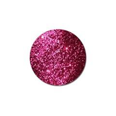 Pink Glitter Golf Ball Marker (4 Pack)