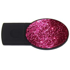 Pink Glitter USB Flash Drive Oval (2 GB)