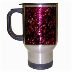Pink Glitter Travel Mug (silver Gray)