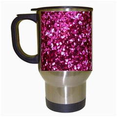Pink Glitter Travel Mugs (white)
