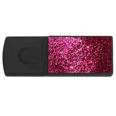 Pink Glitter Usb Flash Drive Rectangular (4 Gb)