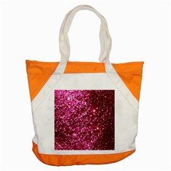 Pink Glitter Accent Tote Bag