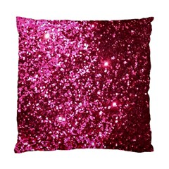 Pink Glitter Standard Cushion Case (one Side)