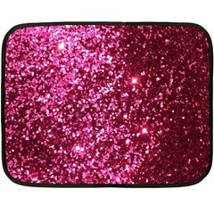 Pink Glitter Double Sided Fleece Blanket (mini)