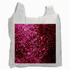 Pink Glitter Recycle Bag (one Side)