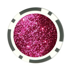 Pink Glitter Poker Chip Card Guard (10 Pack)