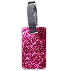 Pink Glitter Luggage Tags (one Side)