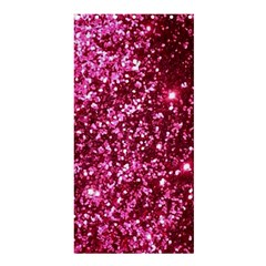 Pink Glitter Shower Curtain 36  X 72  (stall)