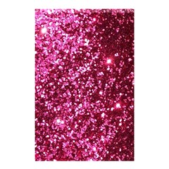 Pink Glitter Shower Curtain 48  X 72  (small)