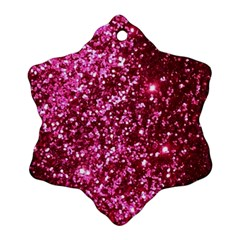 Pink Glitter Snowflake Ornament (two Sides)