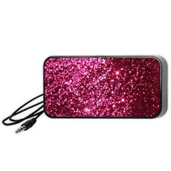 Pink Glitter Portable Speaker (black)