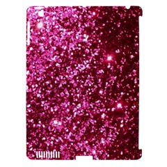 Pink Glitter Apple Ipad 3/4 Hardshell Case (compatible With Smart Cover)