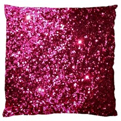 Pink Glitter Large Cushion Case (two Sides)