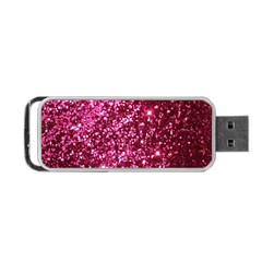 Pink Glitter Portable Usb Flash (two Sides)