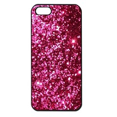 Pink Glitter Apple Iphone 5 Seamless Case (black)