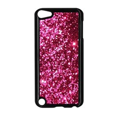 Pink Glitter Apple Ipod Touch 5 Case (black)