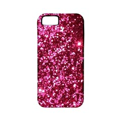 Pink Glitter Apple Iphone 5 Classic Hardshell Case (pc+silicone)