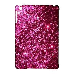 Pink Glitter Apple Ipad Mini Hardshell Case (compatible With Smart Cover)