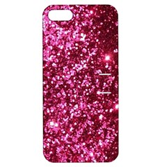 Pink Glitter Apple Iphone 5 Hardshell Case With Stand