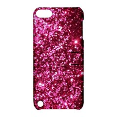 Pink Glitter Apple Ipod Touch 5 Hardshell Case With Stand