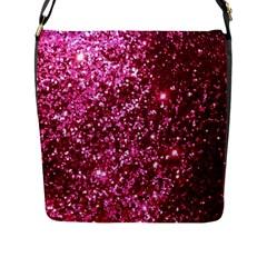 Pink Glitter Flap Messenger Bag (l)