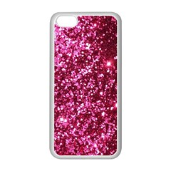 Pink Glitter Apple Iphone 5c Seamless Case (white)