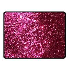 Pink Glitter Double Sided Fleece Blanket (small)