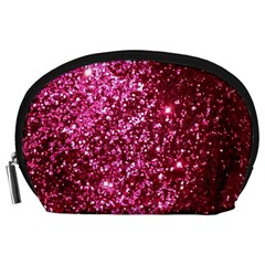 Pink Glitter Accessory Pouches (large)